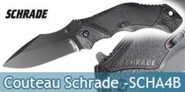 Couteau Schrade SCHA4B - Black Edition