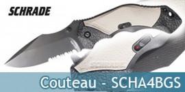 Couteau Schrade SCHA4BGS Dentelé - Grey Edition