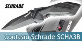 Couteau Schrade Black SCHA3B - Black Edition