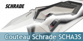 Couteau Schrade Grey SCHA3S - Dentelé Grey Edition