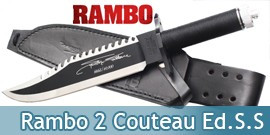 Rambo 2 Couteau - Edition Sylvester Stallone