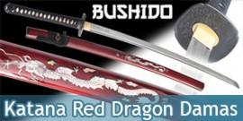 Bushido - Katana Red Dragon - Damas