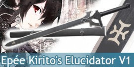 Sword Art Online Epée Kirito's Elucidator V1