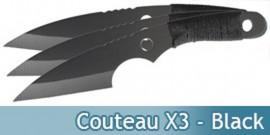 Couteau de Lancer X3 - Black