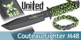 M48 Apocalypse Couteau Fighter + Bracelet de survie