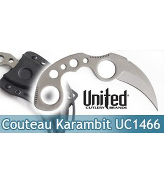 Undercover Couteau Karambit Silver United Cutlery UC1466