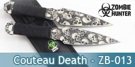 Couteau de Lancer X2 Death Zombie - ZB-013