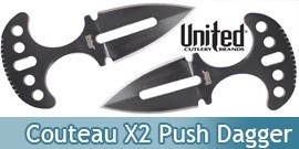 Undercover Couteau Tactical X2 Push Dagger Black UC1487B