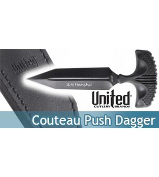 Couteau Tactique Honshu Push Dagger Large Black
