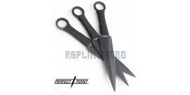 Set 3 Kunais Black - Perfect Point Couteau RC-086-3