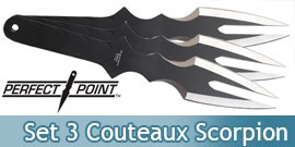 Set 3 Couteaux de lancer Scorpion Master Cutlery