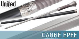 Canne Epée Forgée de United Cutlery, Canne Epée Tranchante - Repliksword