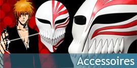 Accessoires Bleach, Masques Hollow, Brassards des Capitaines - Repliksword