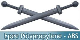 Katana en Polypropylene, Sabre d'Entrainement, Epee Plastique Compacte