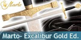 Marto Epées Excalibur, Epée du Roi Arthur, Epée de la Dame du Lac, Epée dans le Rocher - Repliksword